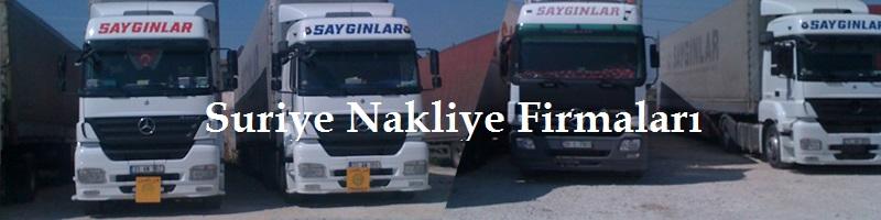 Suriye nakliye firması